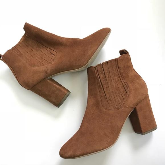 fc16ffe0594 Steve Madden Shoes | Gasto Block Heel Suede Booties | Poshmark